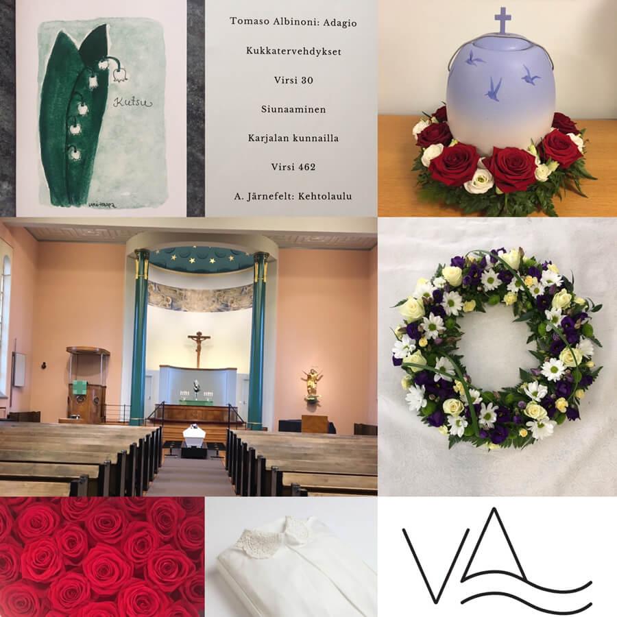 Hautajaisten palvelupaketti